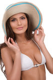 Beautiful woman in hat. Royalty Free Stock Image