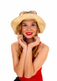 Beautiful woman with hat. Royalty Free Stock Photos