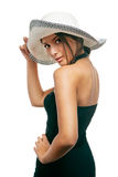 Beautiful woman in a hat Stock Image