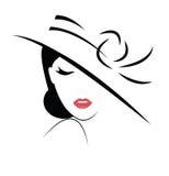 Beautiful Woman in hat Stock Photo