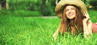 Beautiful woman with hat Royalty Free Stock Photo