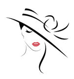 Beautiful Woman in hat. royalty free illustration