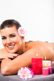 Beautiful woman having a back massage Royalty Free Stock Image