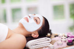 Beautiful woman having beauty treatments in the spa salon Stock Photography