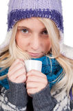 Beautiful woman having cup of coffee Stock Photo