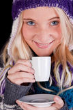 Beautiful woman having cup of coffee Royalty Free Stock Image
