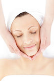 Beautiful woman having a head massage Royalty Free Stock Image