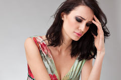Beautiful woman having a headache Stock Photos