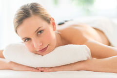 Beautiful Woman Having Lastone Therapy At Spa Royalty Free Stock Photography