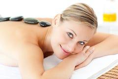 Beautiful woman having a massage Stock Images