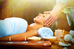 Beautiful woman having massage. Stock Photography