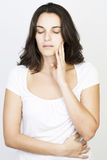 Beautiful woman having toothache Royalty Free Stock Images