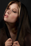 Beautiful Woman in Head Covering stock image