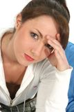 Beautiful Woman with Headache Stock Images