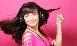 Beautiful woman with headphones Stock Photo