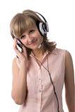 Beautiful woman with headset Stock Photos