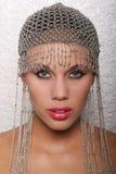 Beautiful woman headshot. Beautiful ethnic woman head shot Stock Photo