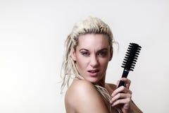 Beautiful woman headshots Royalty Free Stock Photography