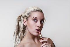 Beautiful woman headshots Royalty Free Stock Images