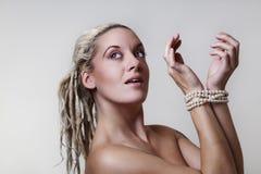 Beautiful woman headshots Royalty Free Stock Photos