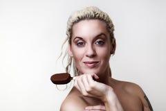 Beautiful woman headshots Stock Photography