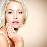 Beautiful woman with health clean skin royalty free stock photography