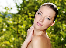 Beautiful woman with health skin Stock Image
