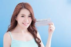 Beautiful woman with health teeth Stock Image
