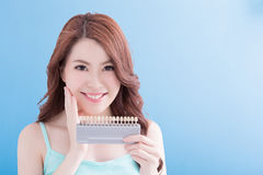 Beautiful woman with health teeth Royalty Free Stock Images