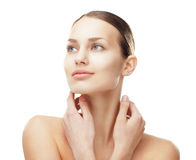 Beautiful woman with healthy clean skin Stock Photos