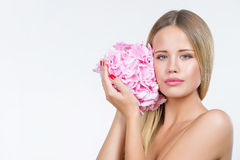 Beautiful woman with healthy and clean skin Stock Photos