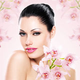 Beautiful  woman with healthy fresh skin Stock Photo