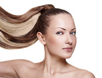 Beautiful Woman with Healthy Long Hair Stock Photography