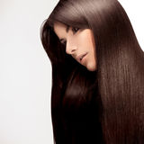 Beautiful Woman with Healthy Long Hair royalty free stock photos