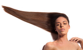 Beautiful Woman with Healthy Long Hair. Stock Image