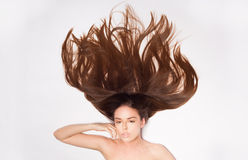 Beautiful Woman with Healthy Long Hair. Royalty Free Stock Photography