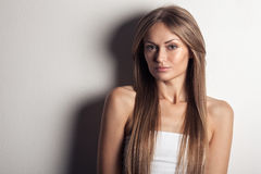 Beautiful Woman. Healthy Long Hair. Royalty Free Stock Photo