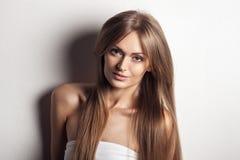 Beautiful Woman. Healthy Long Hair. Royalty Free Stock Photos