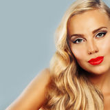 Beautiful Woman. Healthy Tanned Skin. Blond Hair Royalty Free Stock Image