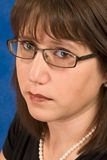 Beautiful woman in her 30s wearing eyeglasses Stock Photography