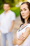 Beautiful woman and her boy friend Royalty Free Stock Photo