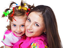 Beautiful woman and her daughter royalty free stock image