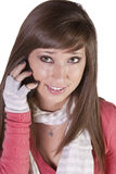 Beautiful Woman on her Phone Stock Images