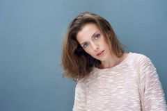 Beautiful woman in her 40s wearing sweater Stock Photography