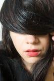 Beautiful woman hidding eyes Stock Image