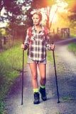Beautiful Woman Hiking Stock Photos