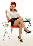 Beautiful woman holding cigarette stock image