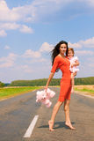 Beautiful woman holding her daughter Royalty Free Stock Image