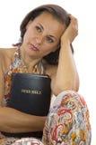 Beautiful woman holding holy bible Stock Photo