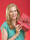 Beautiful Woman Holding Present Royalty Free Stock Photo